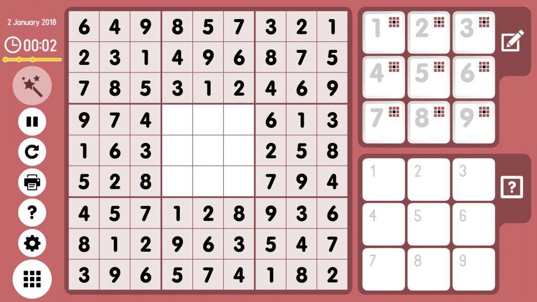 Level 2018-01-02. Online Sudoku