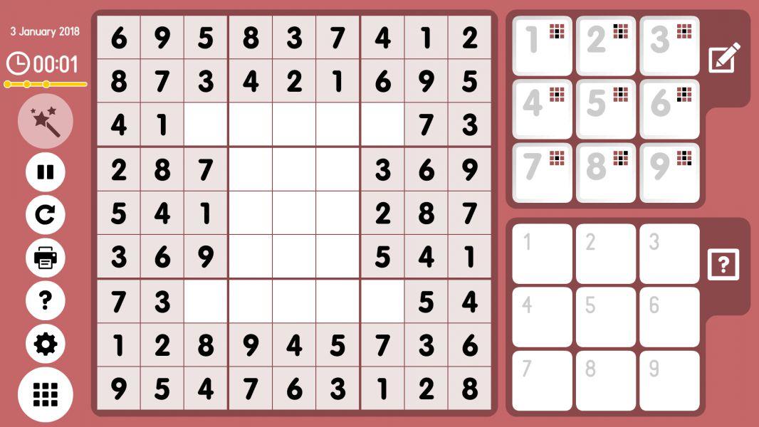 Level 2018-01-03. Online Sudoku