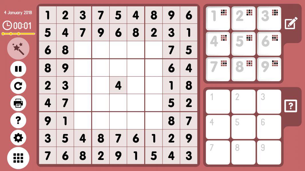 Level 2018-01-04. Online Sudoku