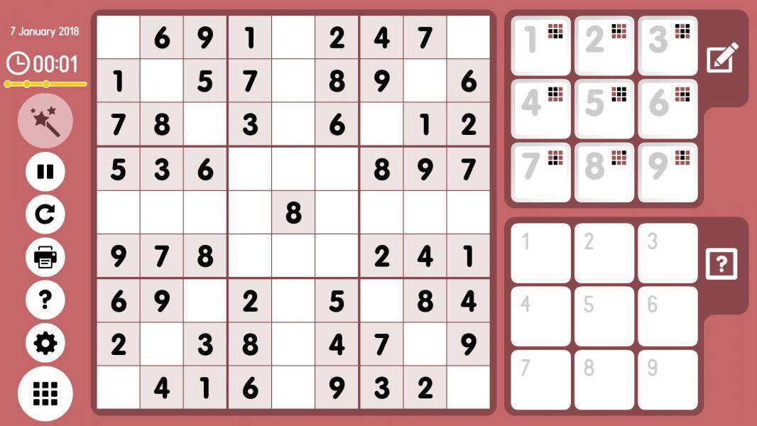 Level 2018-01-07. Online Sudoku
