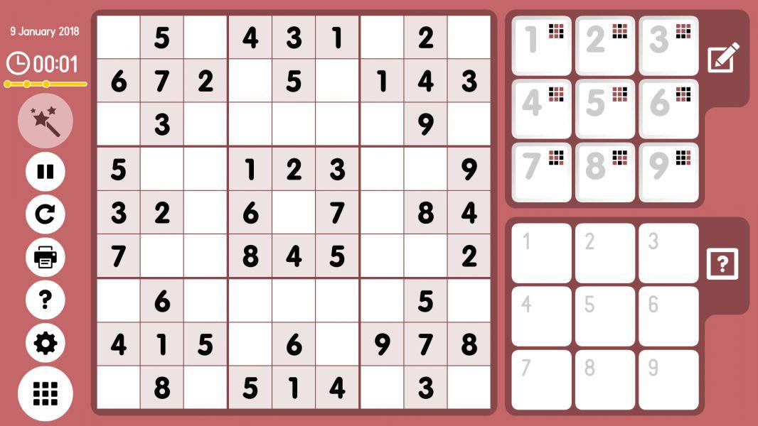 Level 2018-01-09. Online Sudoku