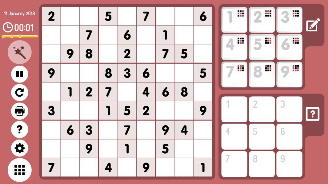 Level 2018-01-11. Online Sudoku