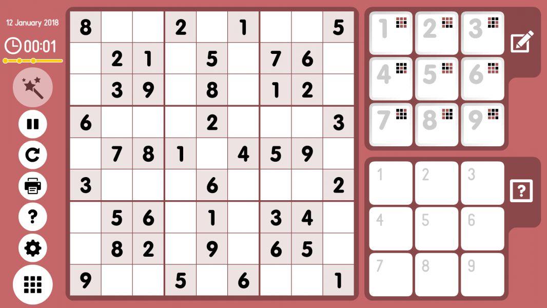 Level 2018-01-12. Online Sudoku