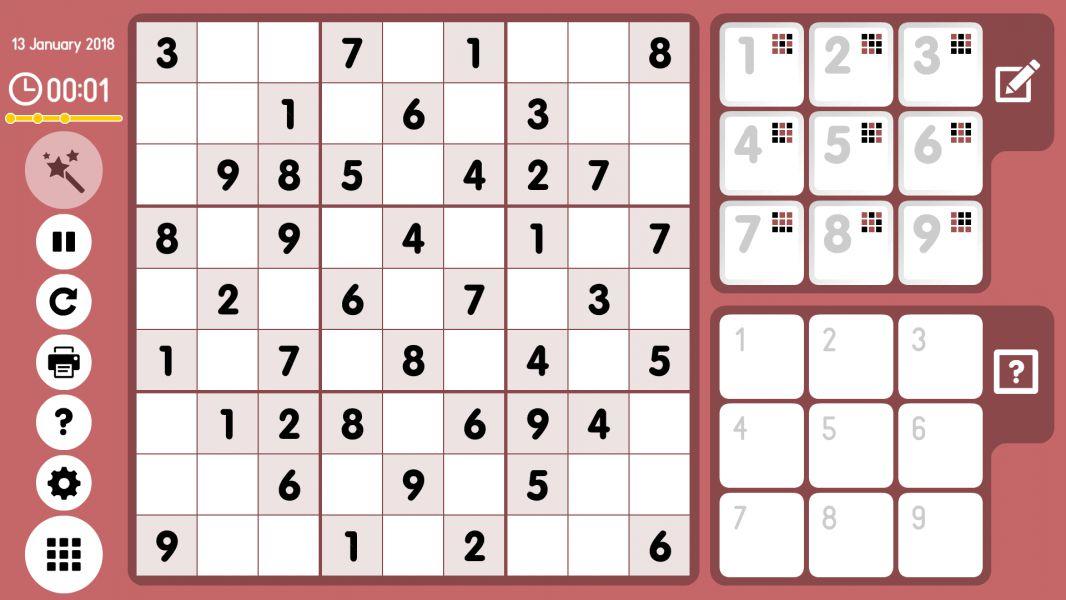 Level 2018-01-13. Online Sudoku