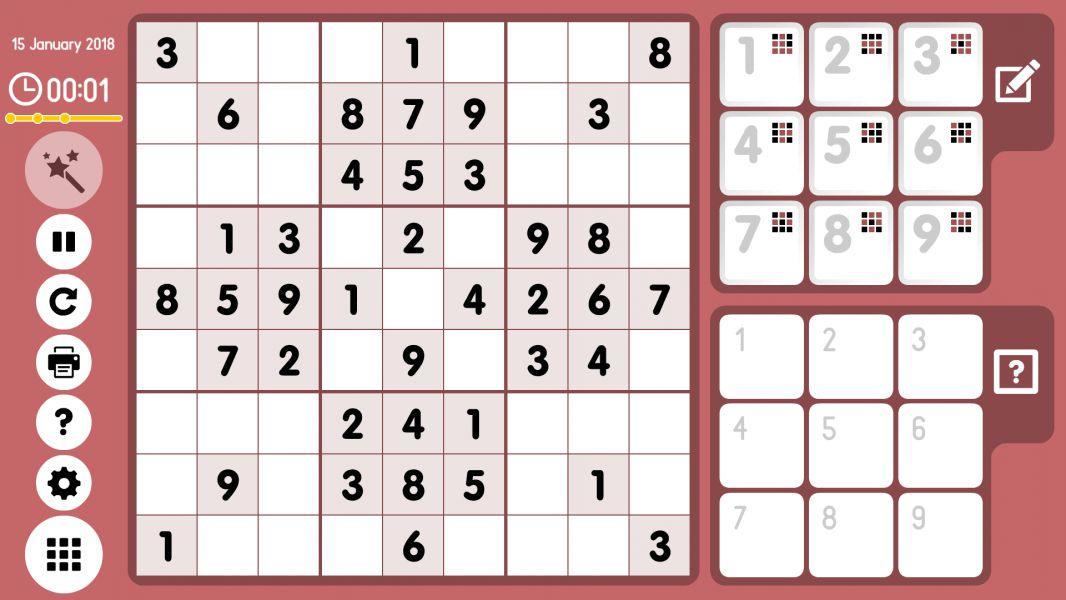 Level 2018-01-15. Online Sudoku