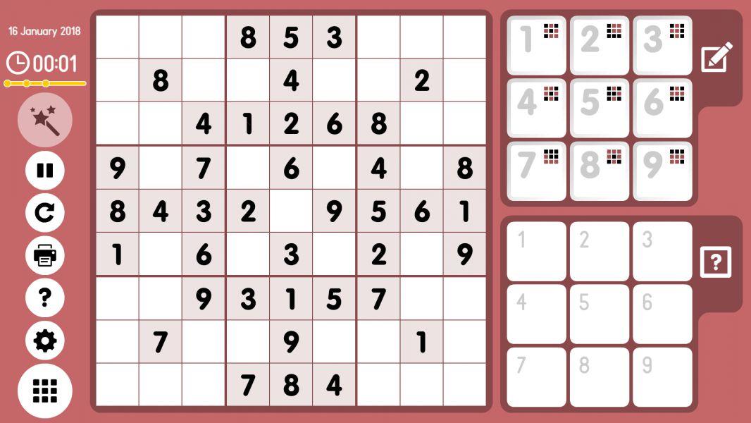 Level 2018-01-16. Online Sudoku