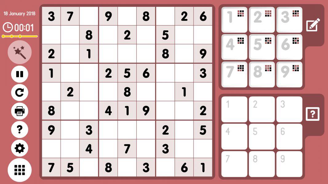 Level 2018-01-18. Online Sudoku