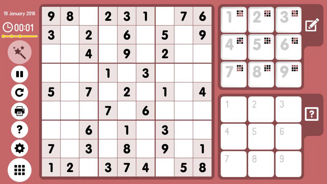Level 2018-01-19. Online Sudoku