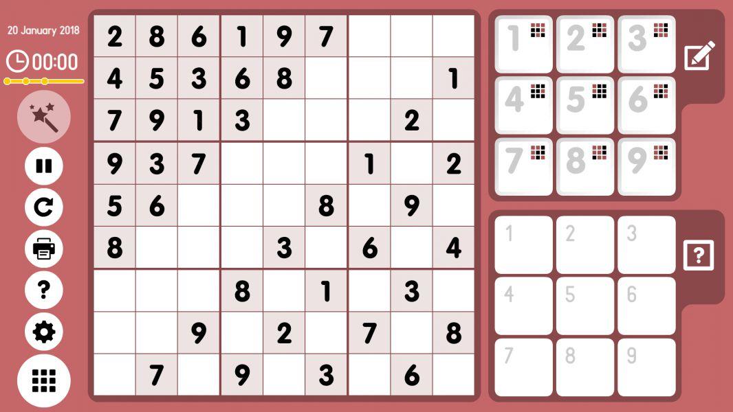 Level 2018-01-20. Online Sudoku