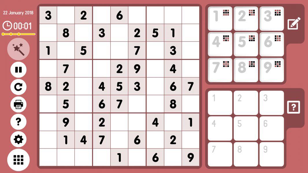 Level 2018-01-22. Online Sudoku