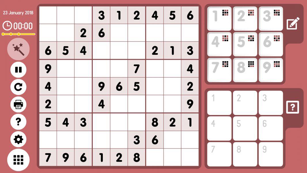 Level 2018-01-23. Online Sudoku