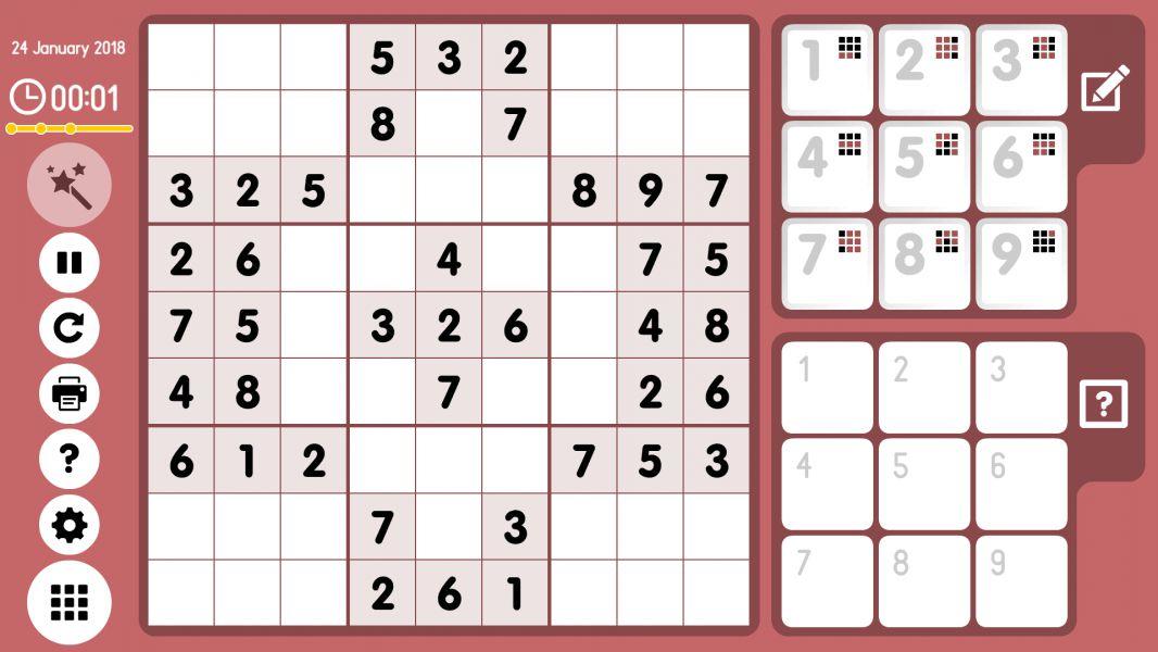 Level 2018-01-24. Online Sudoku