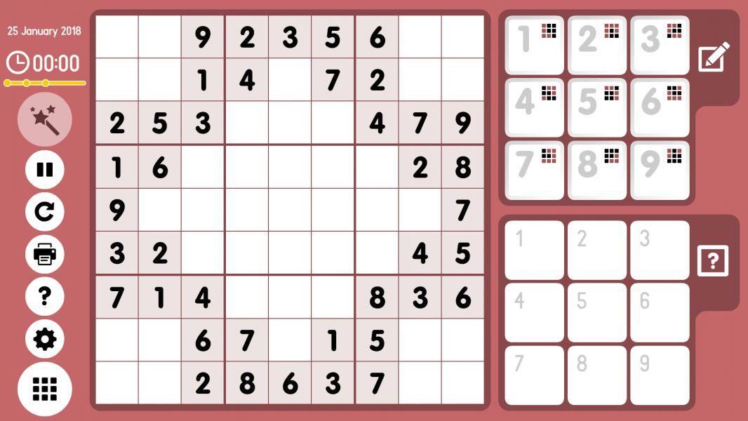 Level 2018-01-25. Online Sudoku