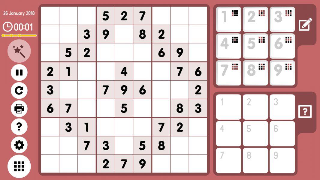 Level 2018-01-26. Online Sudoku
