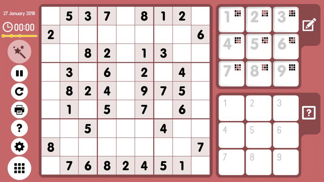 Level 2018-01-27. Online Sudoku