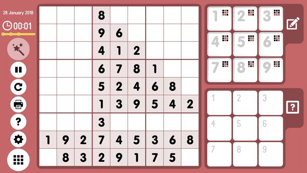 Level 2018-01-28. Online Sudoku