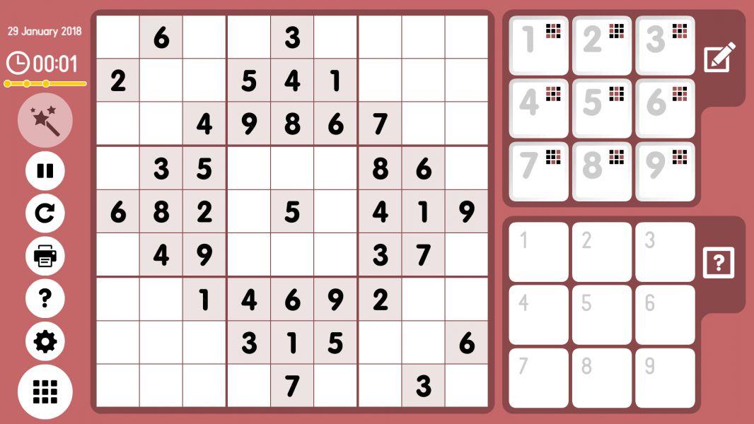 Level 2018-01-29. Online Sudoku