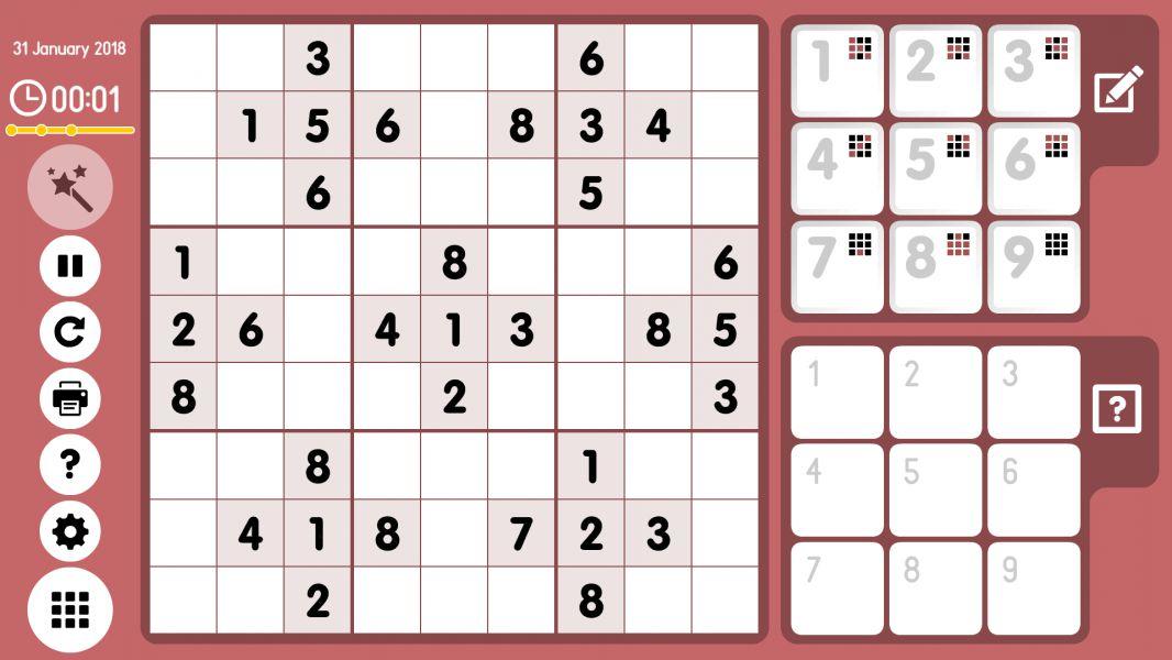 Level 2018-01-31. Online Sudoku