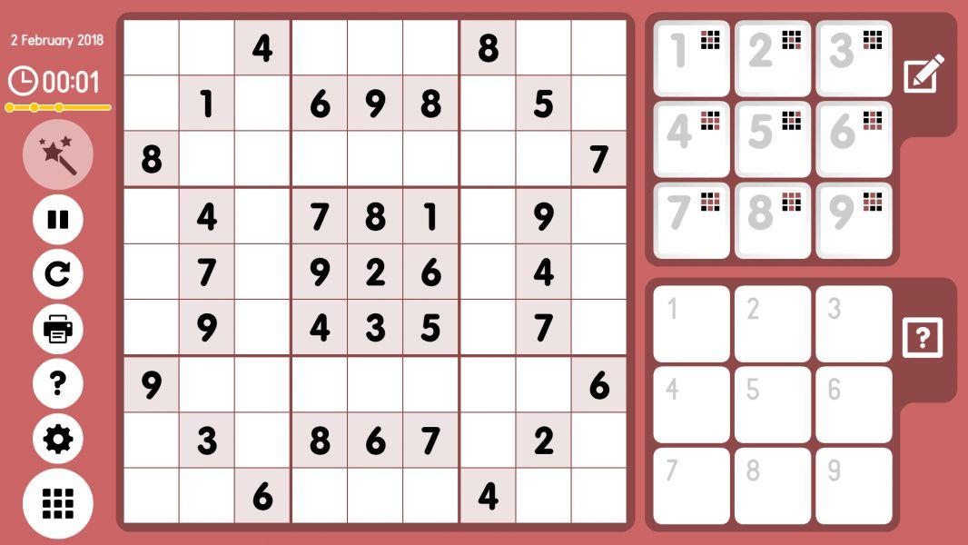 Level 2018-02-02. Online Sudoku