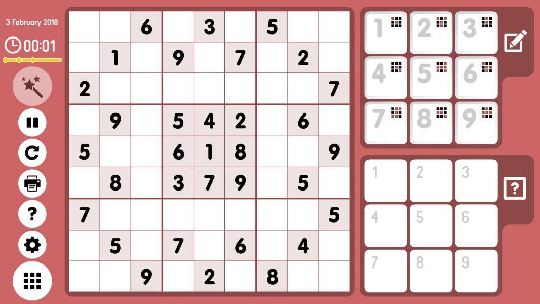 Level 2018-02-03. Online Sudoku