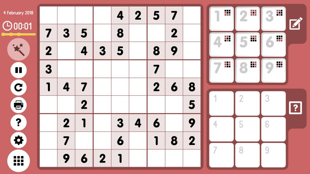 Level 2018-02-04. Online Sudoku