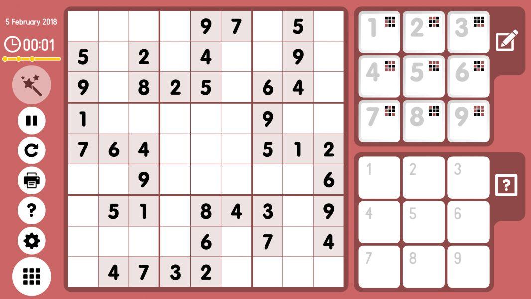 Level 2018-02-05. Online Sudoku
