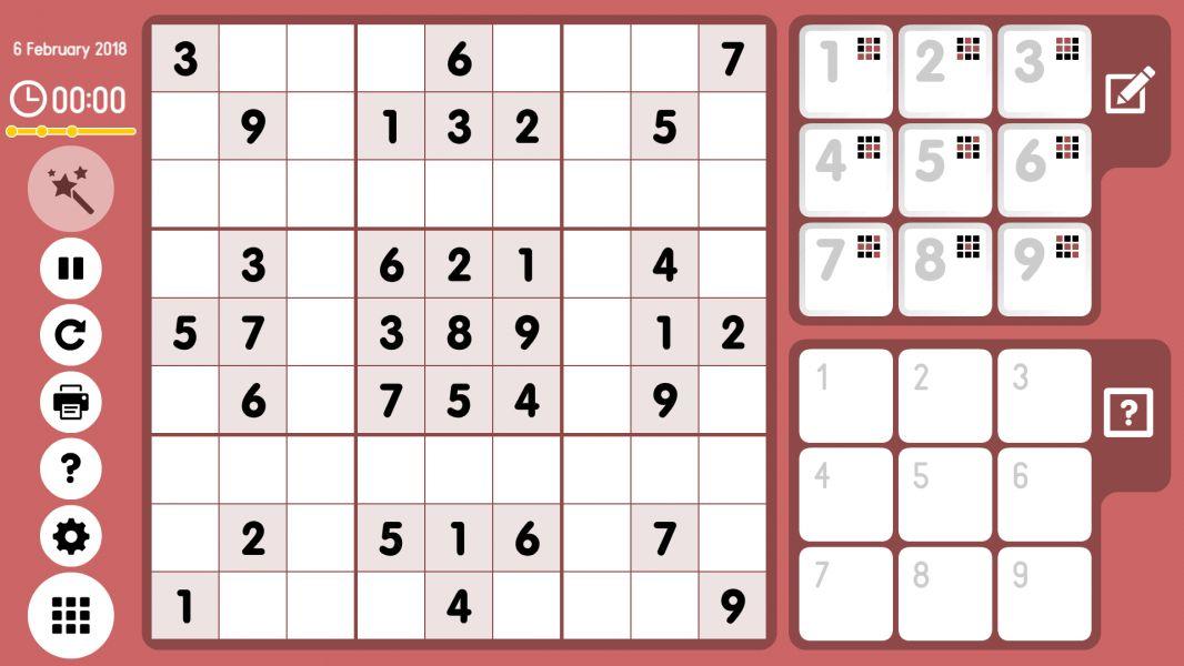 Level 2018-02-06. Online Sudoku