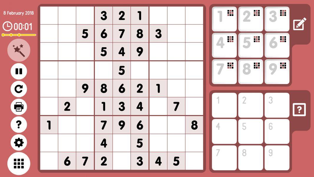 Level 2018-02-08. Online Sudoku