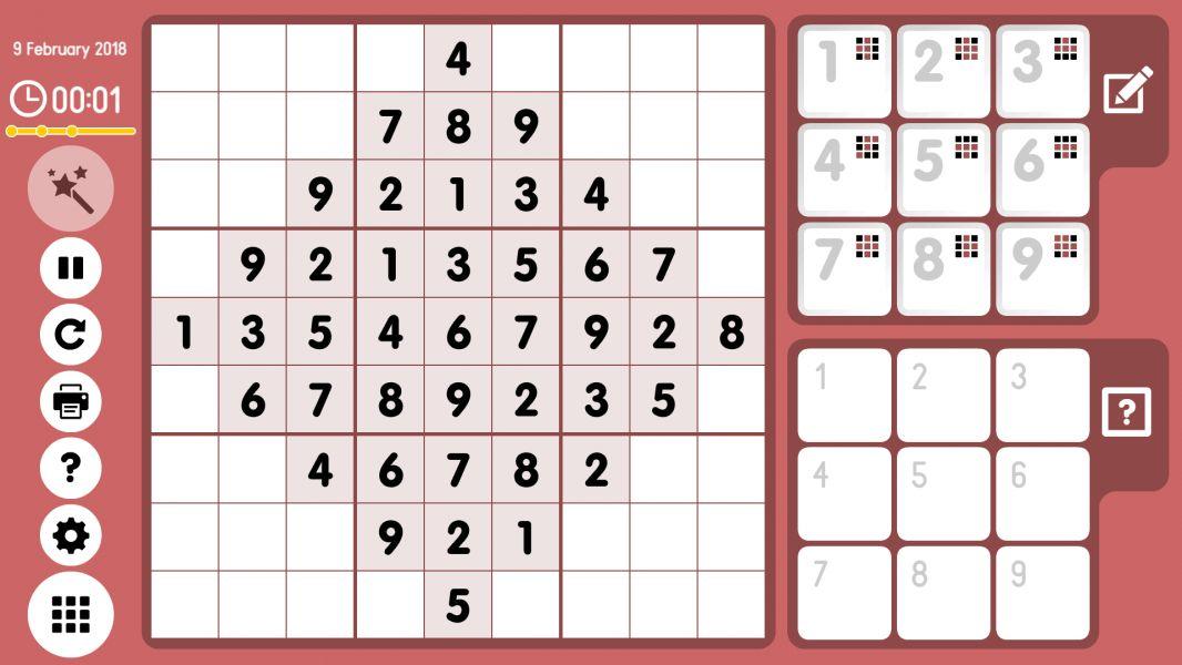 Level 2018-02-09. Online Sudoku