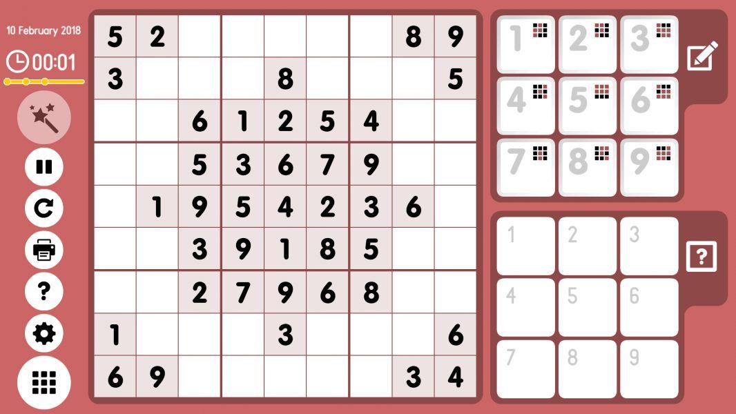 Level 2018-02-10. Online Sudoku