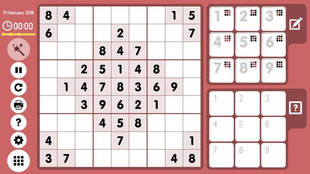 Level 2018-02-11. Online Sudoku