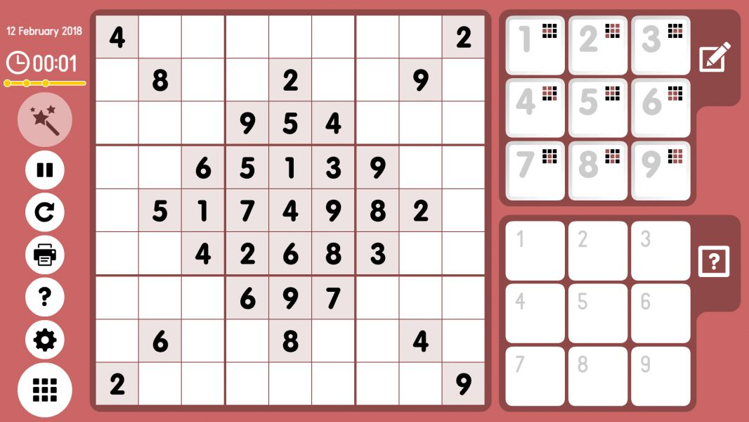 Level 2018-02-12. Online Sudoku