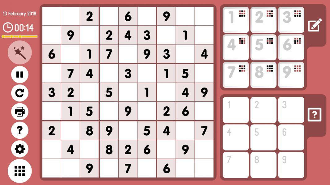 Level 2018-02-13. Online Sudoku