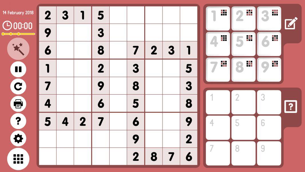 Level 2018-02-14. Online Sudoku