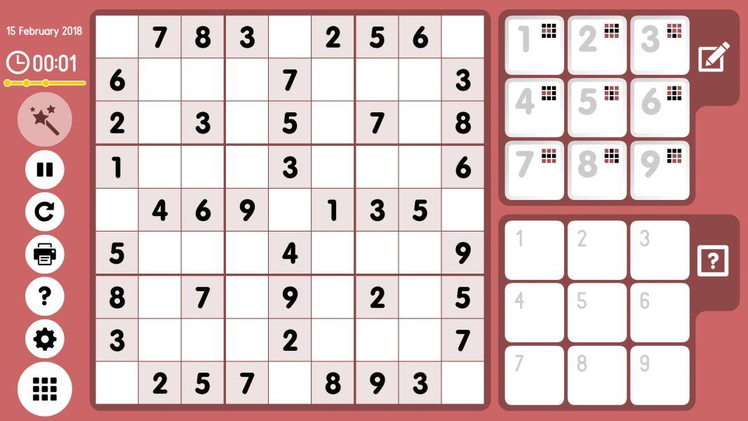 Level 2018-02-15. Online Sudoku