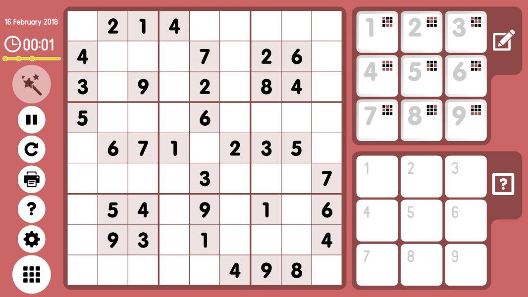 Level 2018-02-16. Online Sudoku