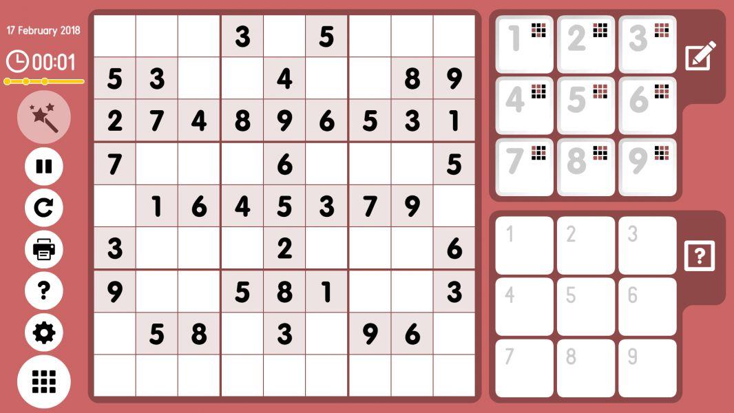 Level 2018-02-17. Online Sudoku