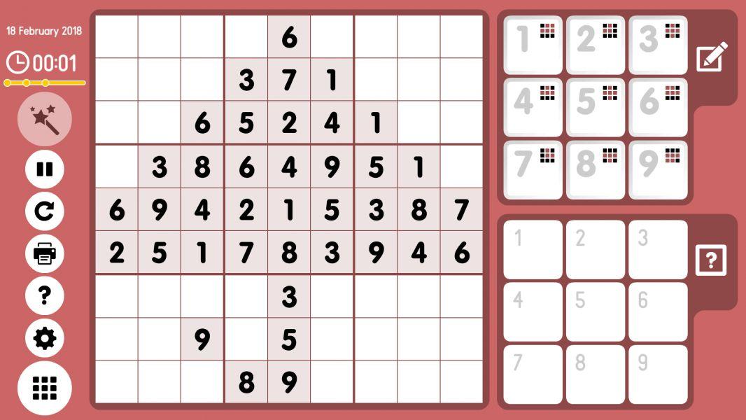Level 2018-02-18. Online Sudoku