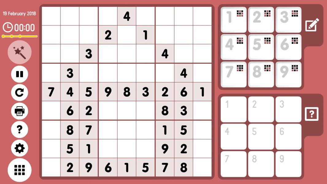 Level 2018-02-19. Online Sudoku