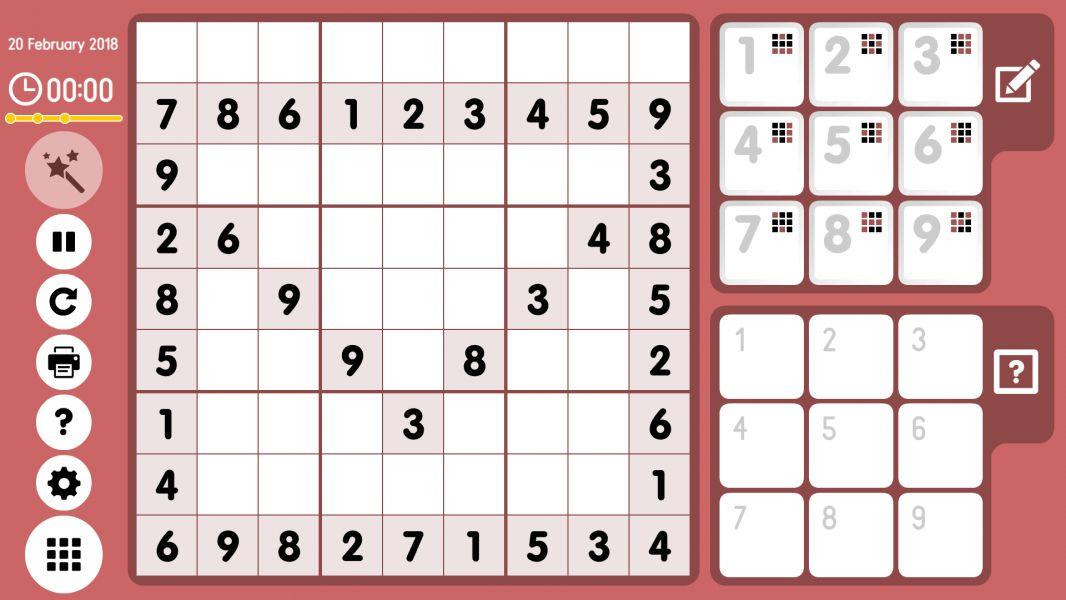 Level 2018-02-20. Online Sudoku