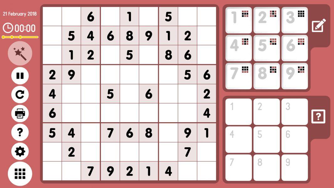 Level 2018-02-21. Online Sudoku