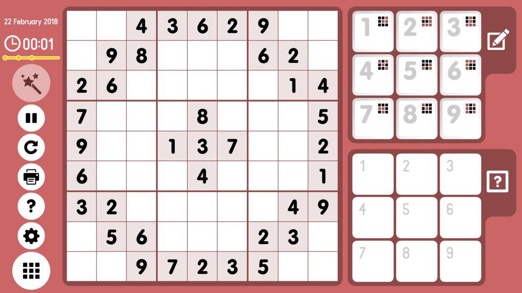 Level 2018-02-22. Online Sudoku