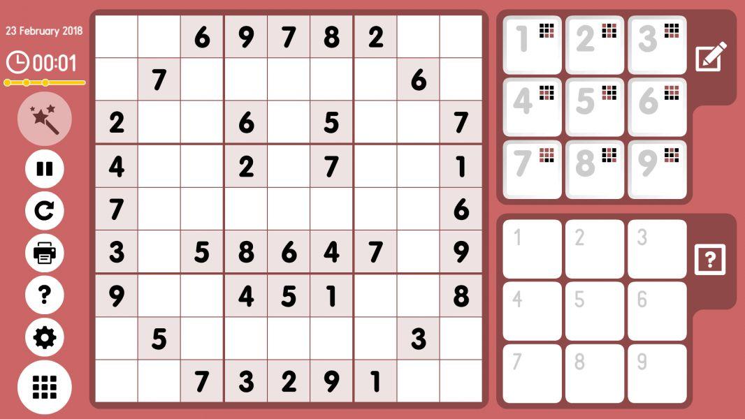 Level 2018-02-23. Online Sudoku