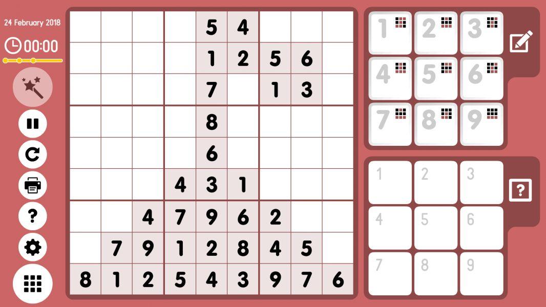 Level 2018-02-24. Online Sudoku