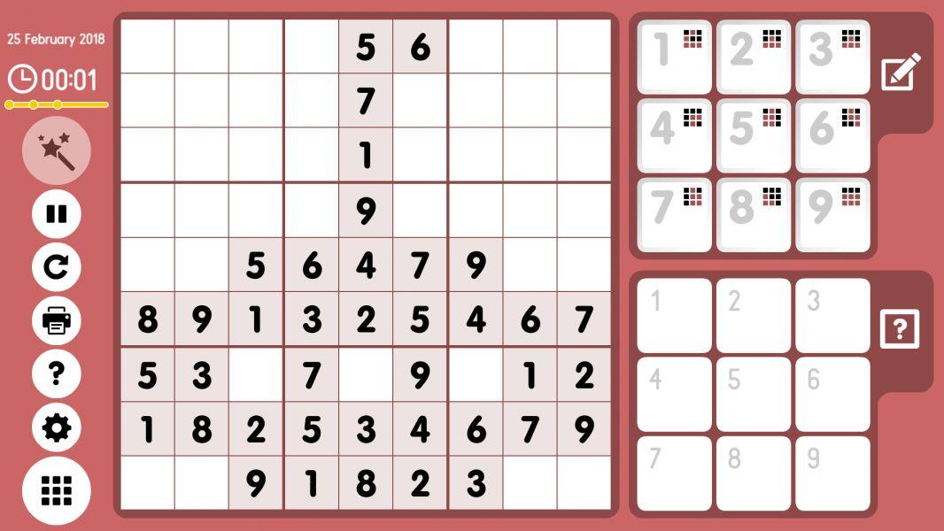 Level 2018-02-25. Online Sudoku