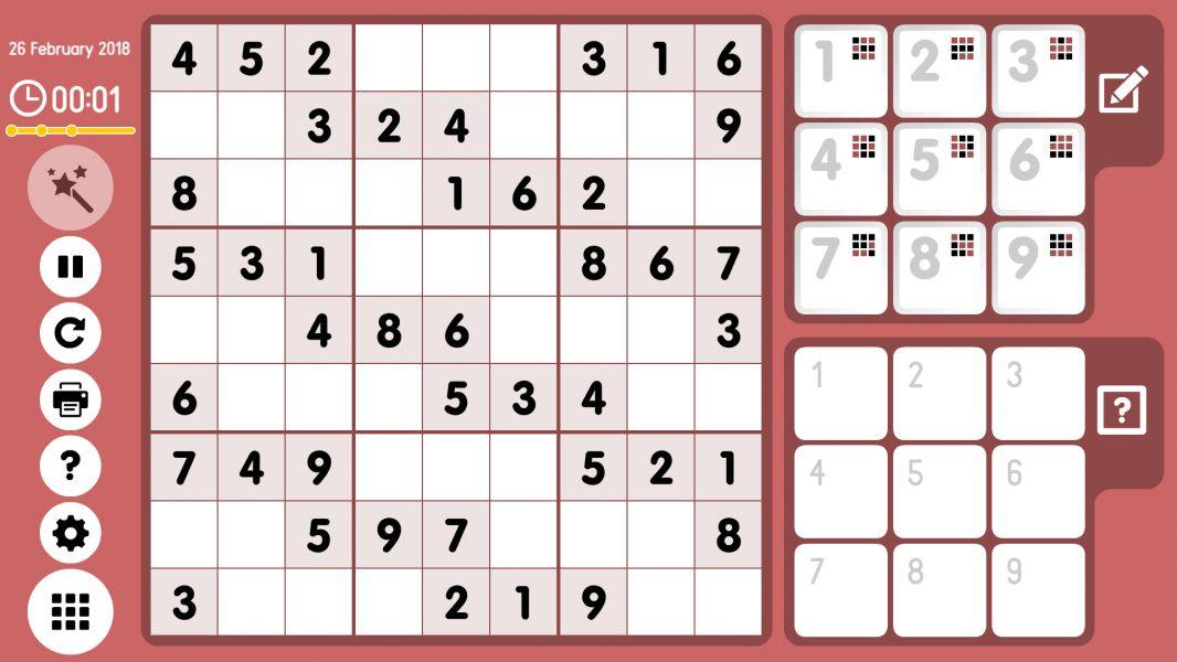 Level 2018-02-26. Online Sudoku