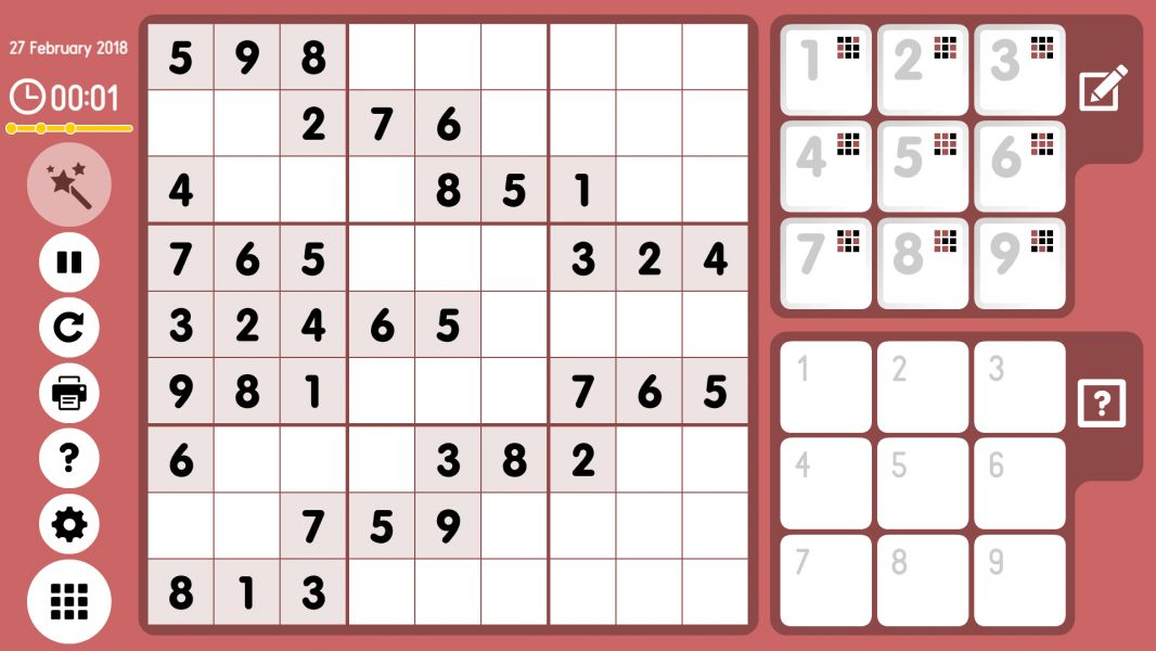 Level 2018-02-27. Online Sudoku