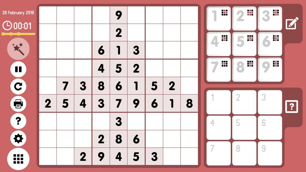 Level 2018-02-28. Online Sudoku