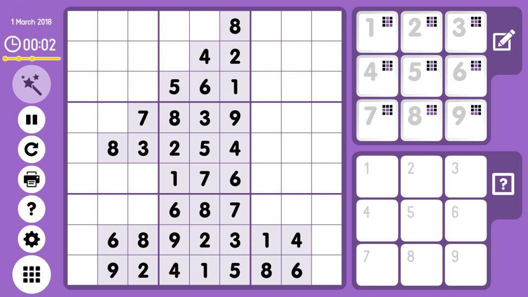 Level 2018-03-01. Online Sudoku