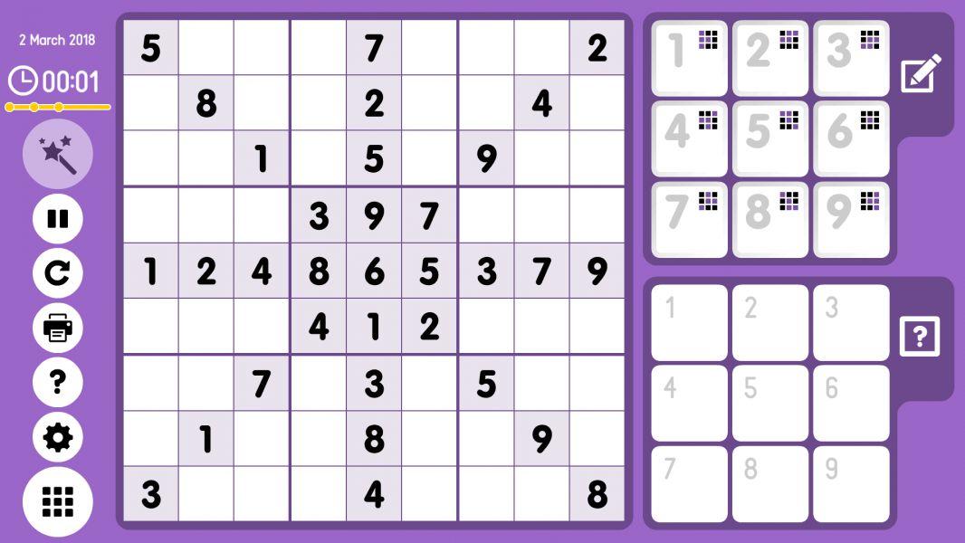 Level 2018-03-02. Online Sudoku